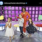 Mason with Tiffany Haddish on Kids Say the Darndest Things