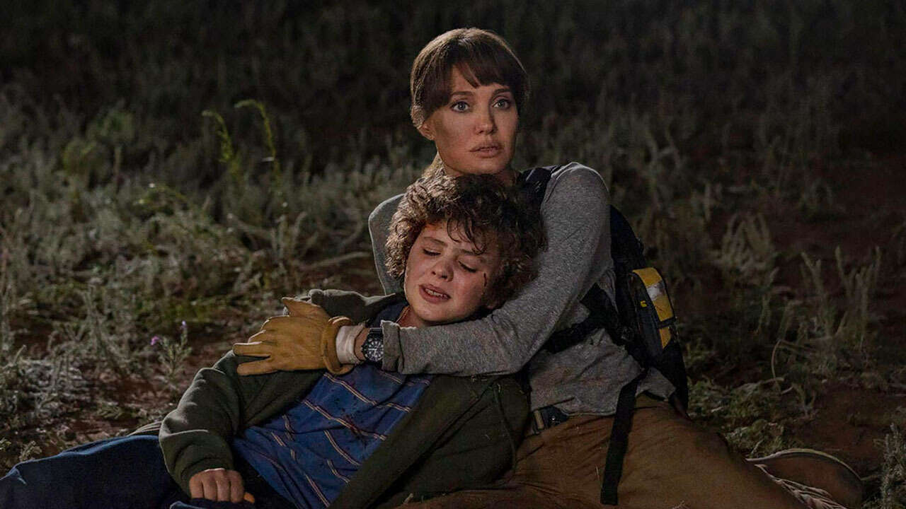 Angelina Jolie and Finn Little in Those Who Wish Me Dead (2021)