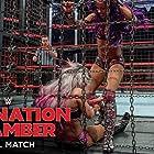 Lexi Kaufman and Sasha Banks in WWE Elimination Chamber (2018)