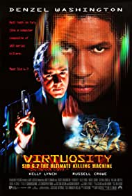 Russell Crowe and Denzel Washington in Virtuosity (1995)