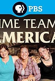 Justine Shapiro, Meg Watters, Joe Watkins, Chelsea Rose, and Allan Maca in Time Team America (2009)