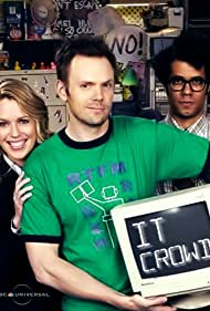 Joel McHale, Jessica St. Clair, and Richard Ayoade in The IT Crowd (2006)