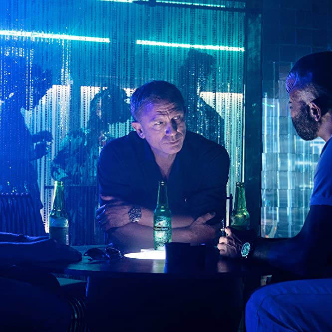 Daniel Craig, Jeffrey Wright, and Billy Magnussen in No Time to Die (2021)