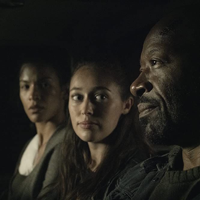 Lennie James, Alycia Debnam-Carey, and Danay Garcia in Fear the Walking Dead (2015)