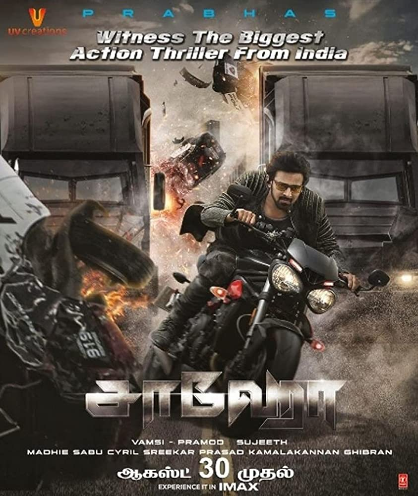 Saaho 2019 Telugu DVDScr 404MB Download