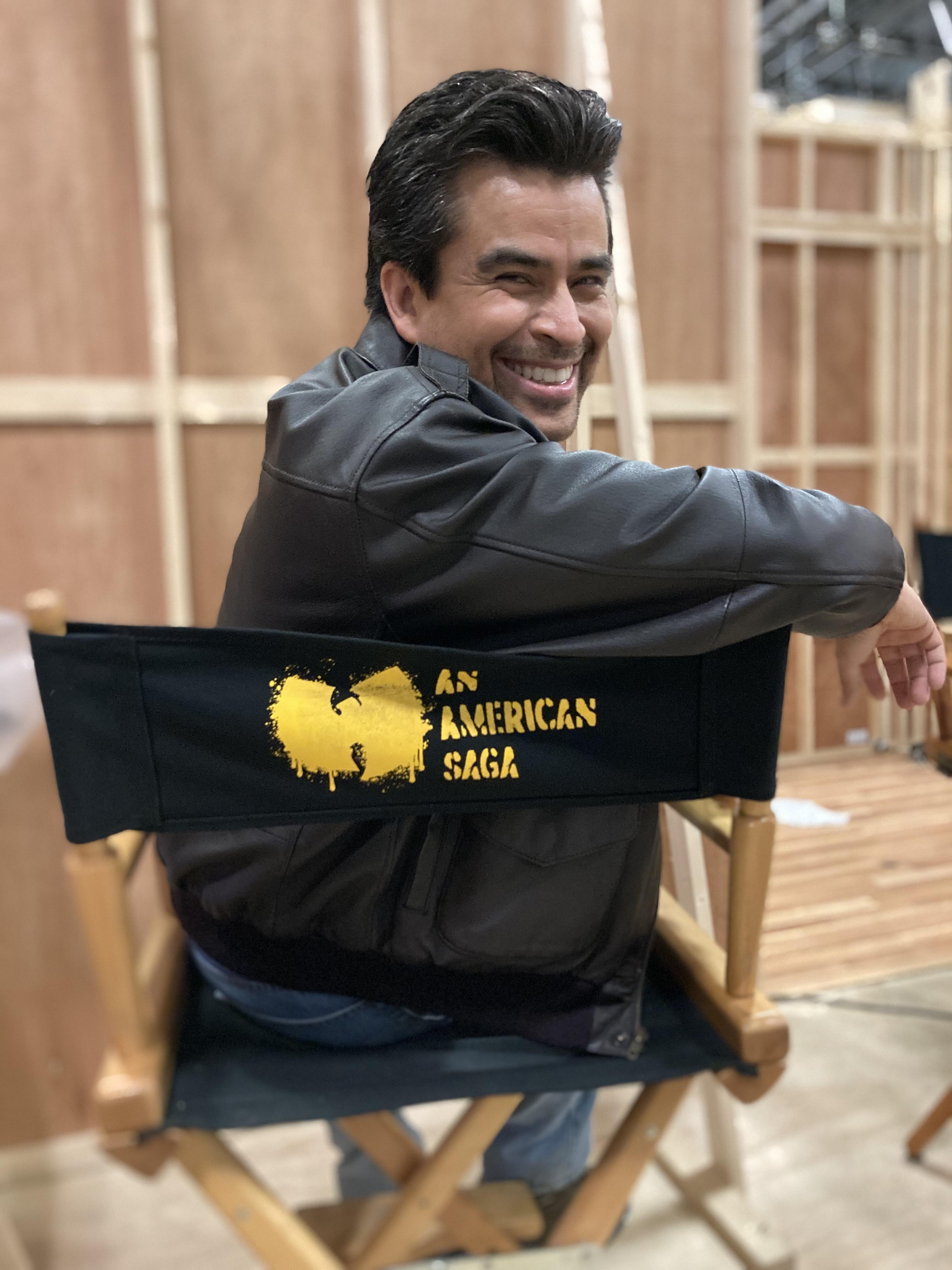 Alberto Bonilla on the set of WuTang