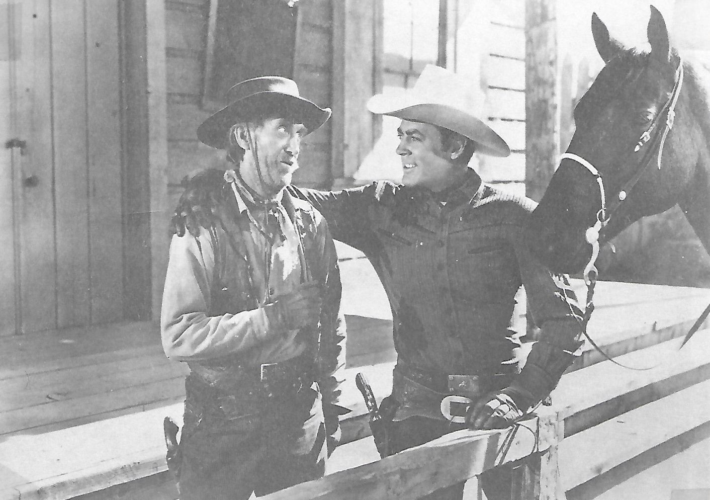 Allan Lane, Eddy Waller, and Black Jack in Sheriff of Wichita (1949)