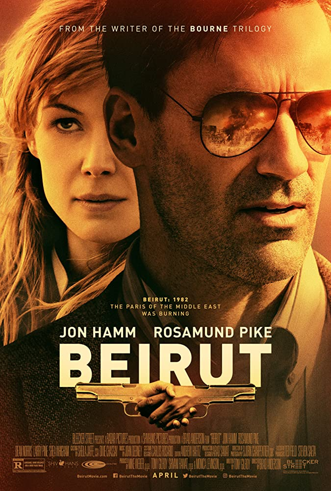 Jon Hamm and Rosamund Pike in Beirut (2018)