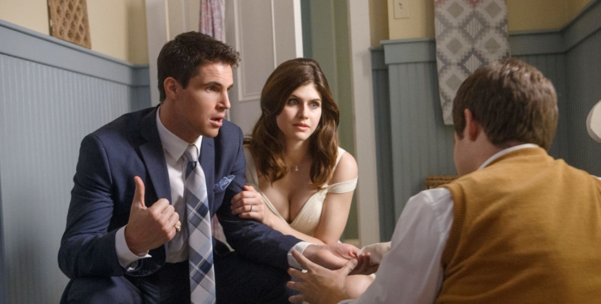 Alexandra Daddario, Robbie Amell, and Adam Devine in When We First Met (2018)