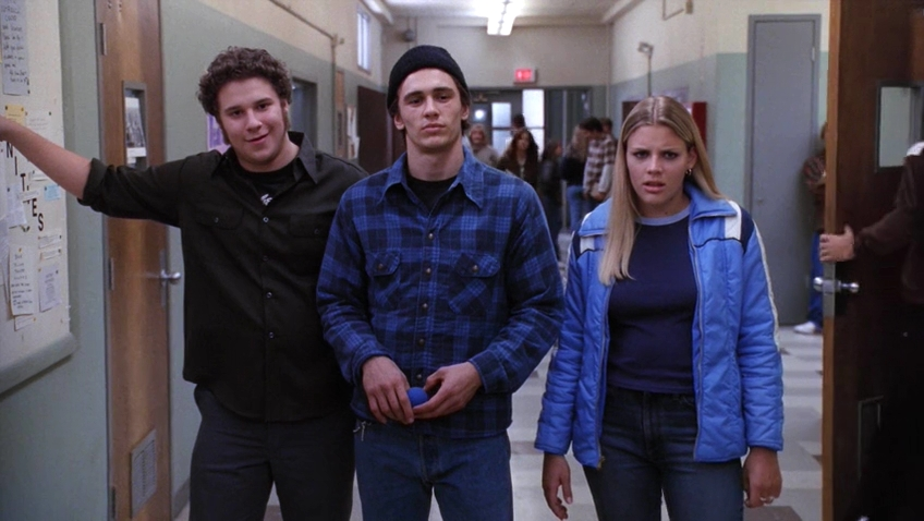 Busy Philipps, James Franco, and Seth Rogen in Freaks and Geeks (1999)