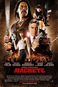 Robert De Niro, Steven Seagal, Danny Trejo, Jessica Alba, and Michelle Rodriguez in Machete (2010)