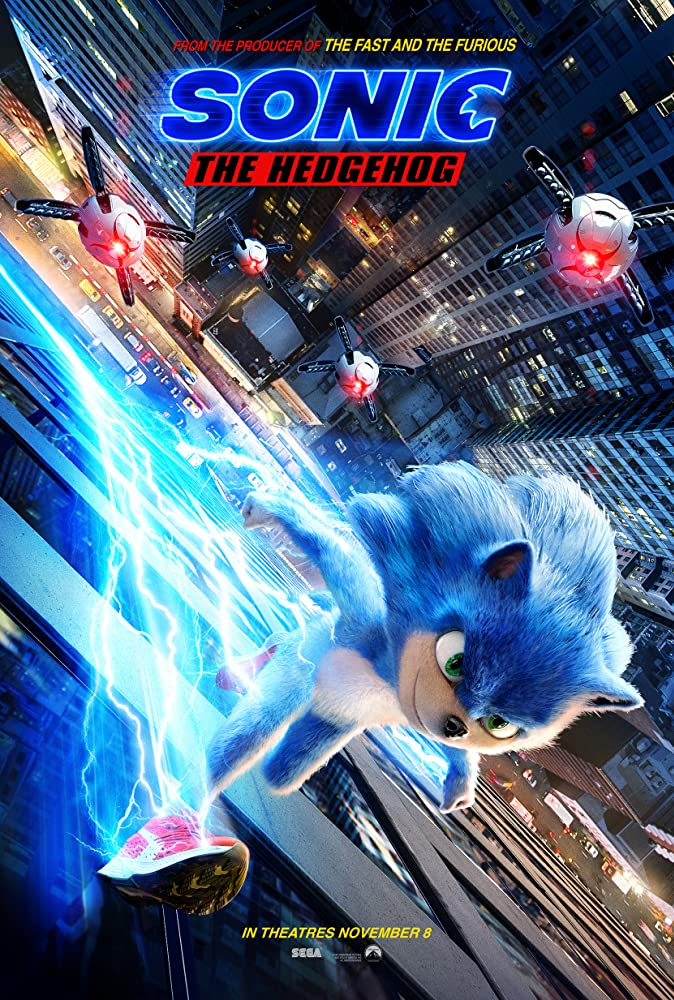 Póster oficial de Sonic the Hedgehog