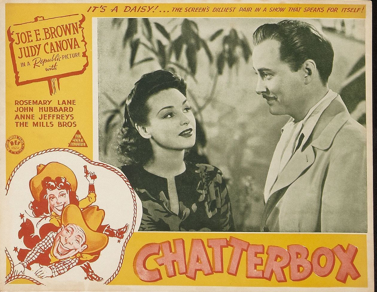 John Hubbard and Rosemary Lane in Chatterbox (1943)