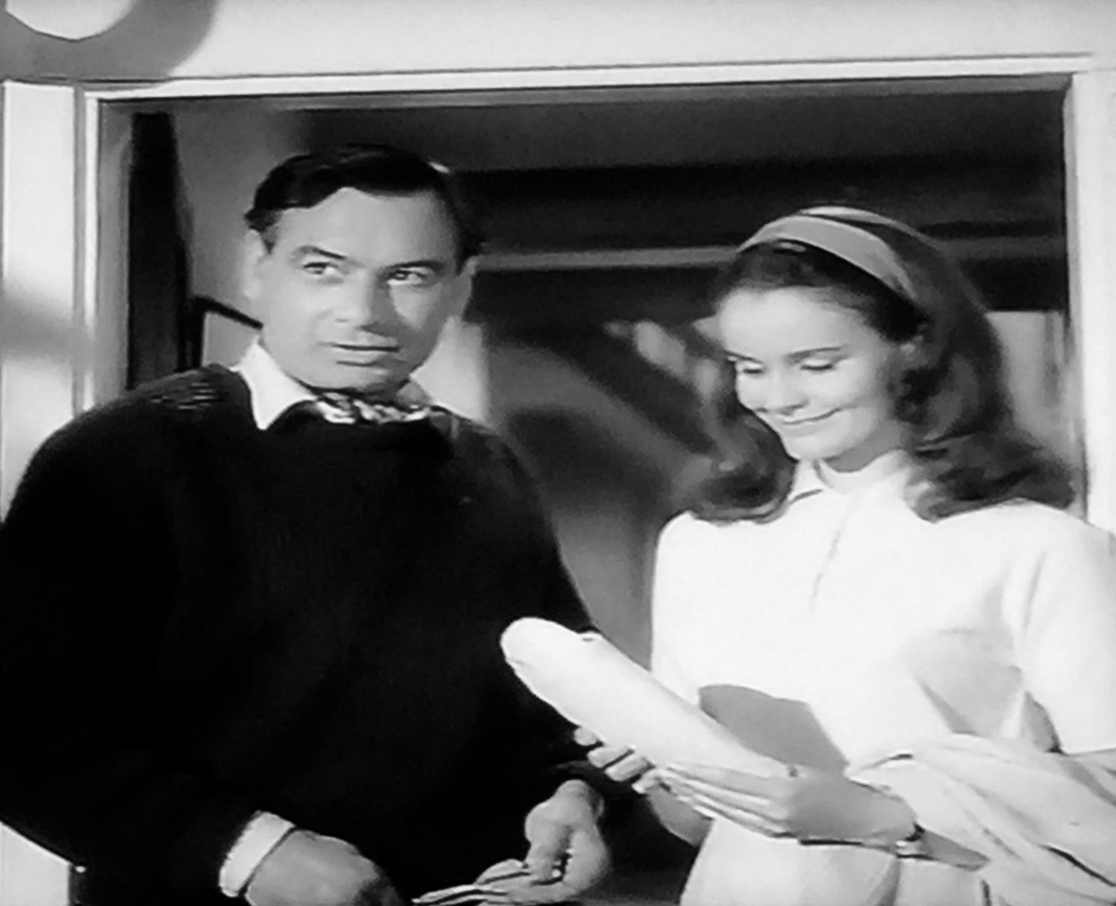 Christina Gregg and Conrad Phillips in Don't Talk to Strange Men (1962)