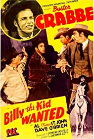 Buster Crabbe, Augie Gomez, Glenn Strange, and Wally West in Billy the Kid Wanted (1941)