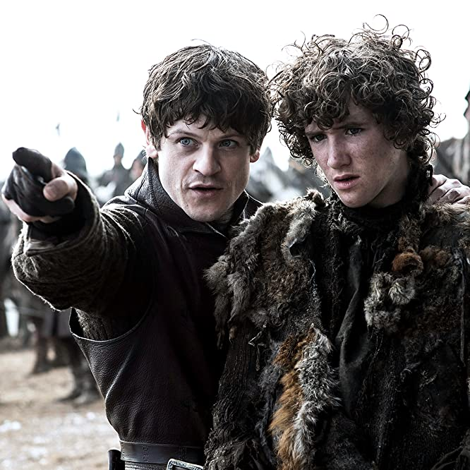 Art Parkinson and Iwan Rheon in Game of Thrones (2011)