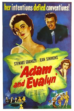 Stewart Granger and Jean Simmons in Adam and Evelyne (1949)