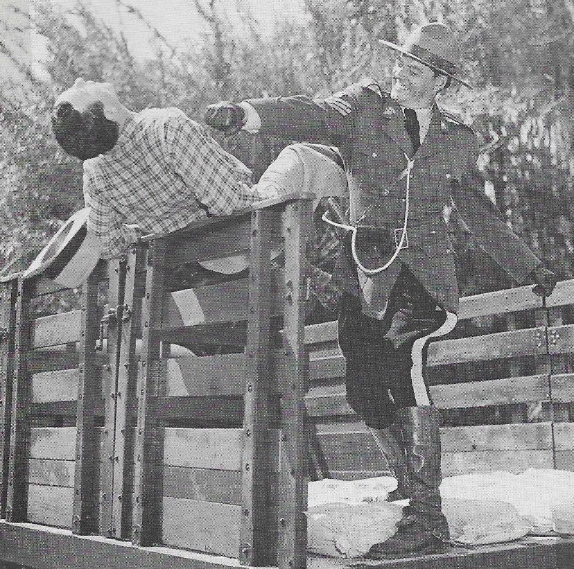William Henry and Dale Van Sickel in Canadian Mounties vs. Atomic Invaders (1953)