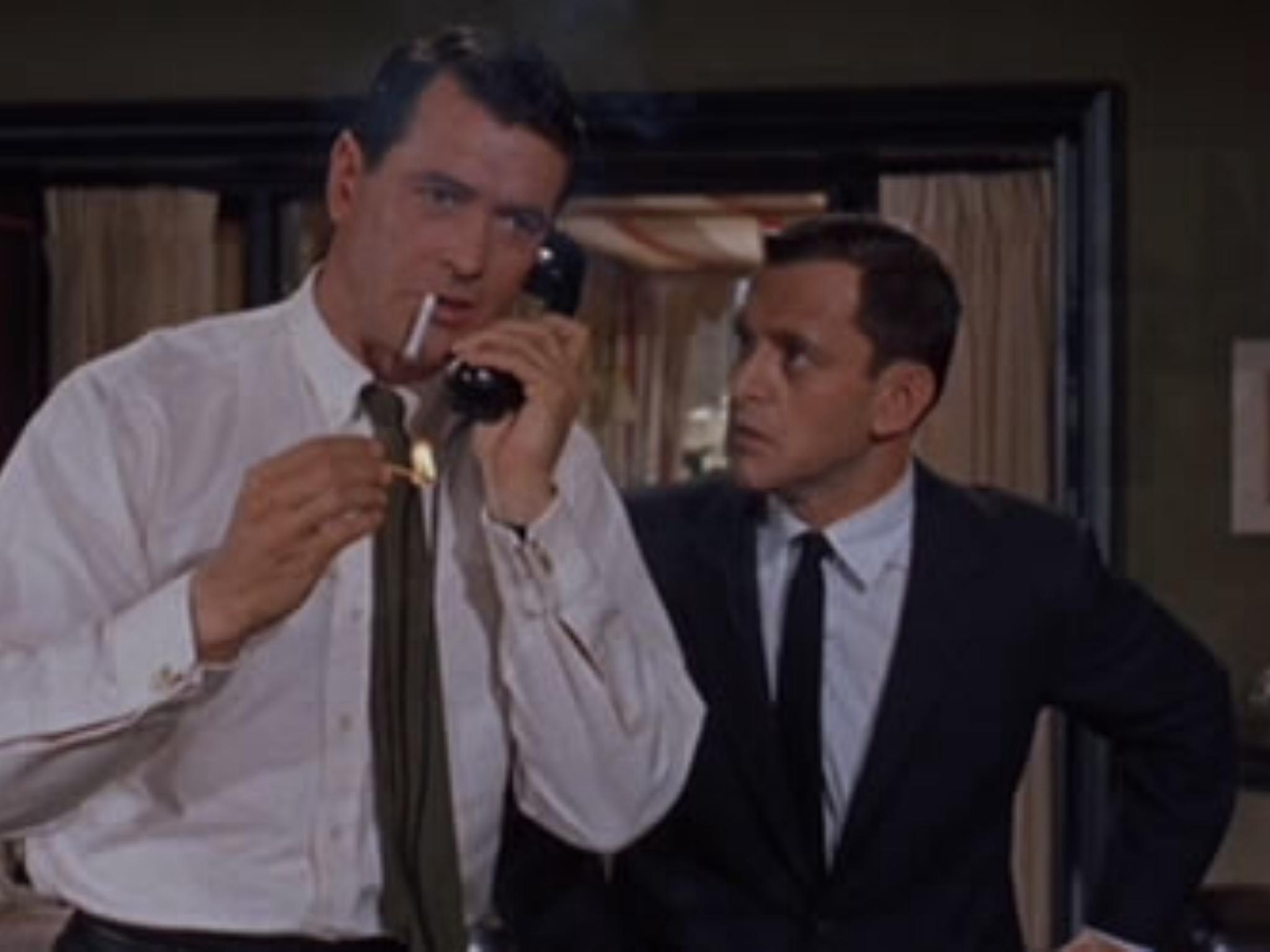 Rock Hudson and Tony Randall in Lover Come Back (1961)