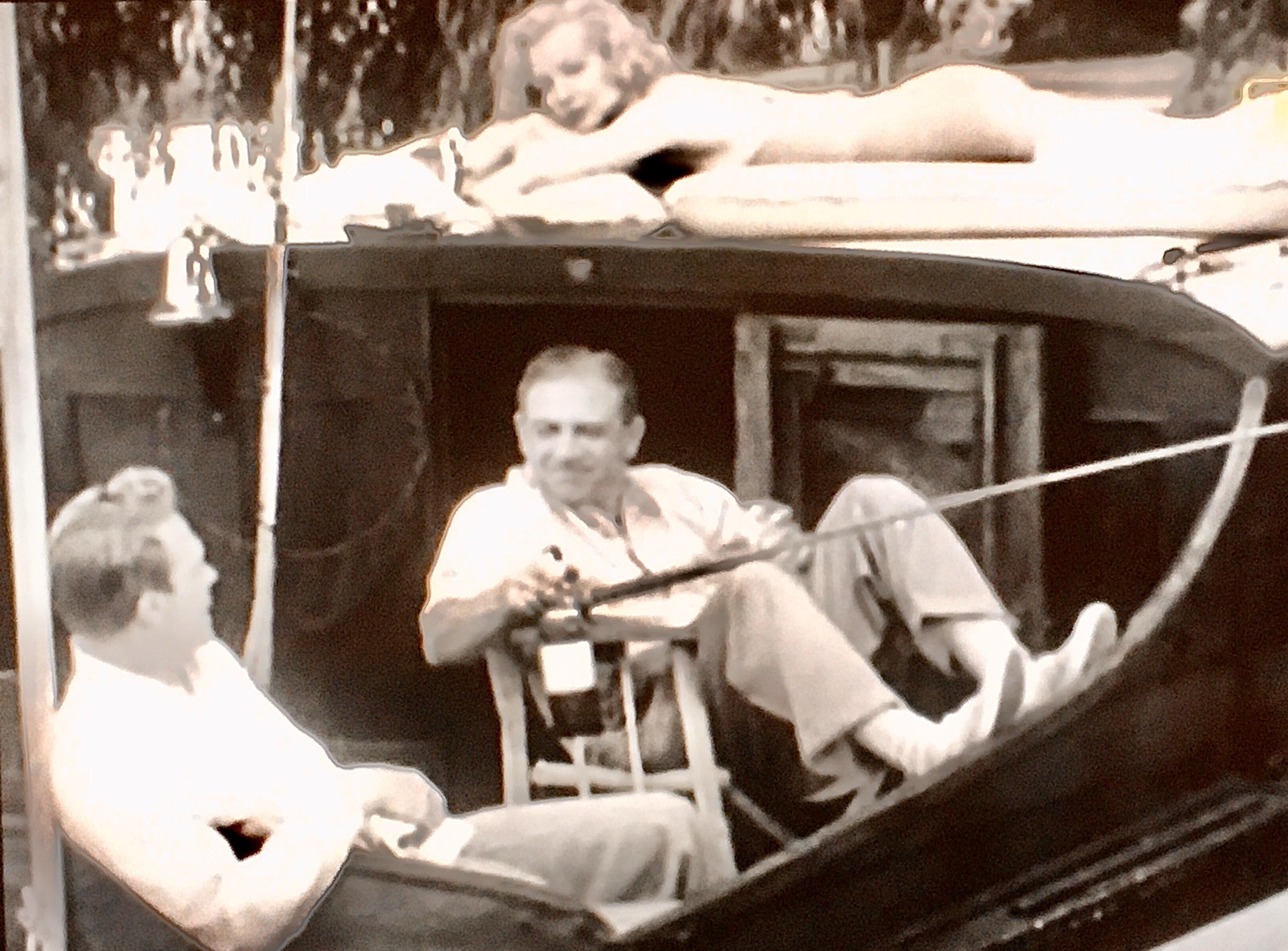 Hillary Brooke, Sidney James, and Alex Nicol in The House Across the Lake (1954)