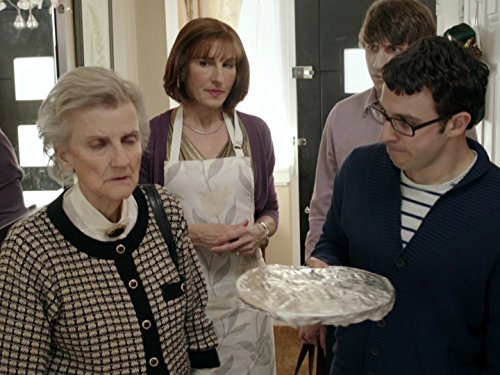Tamsin Greig, Rosalind Knight, Simon Bird, and Tom Rosenthal in Friday Night Dinner (2011)
