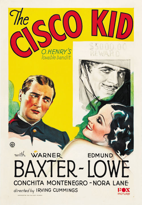 Warner Baxter, Edmund Lowe, and Conchita Montenegro in The Cisco Kid (1931)