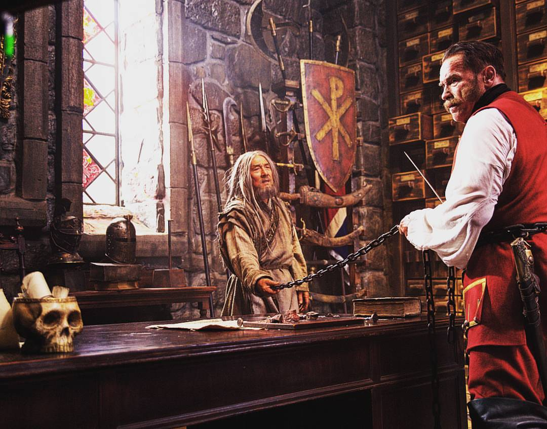 Arnold Schwarzenegger and Jackie Chan in Viy 2 (2019)