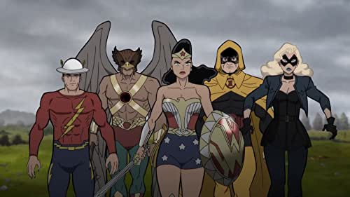 The all-new animated adventure finds modern-day Barry Allen - prior to the formation of the Justice League - discovering he can run even faster than he imagined, and that milestone results in his first encounter with the Speed Force. The Flash is promptly launched into the midst of a raging battle - primarily between Nazis and a team of Golden Age DC Super Heroes known as the Justice Society of America. Led by Wonder Woman, the group includes Hourman, Black Canary, Hawkman, Steve Trevor and the Golden Age Flash, Jay Garrick. The Flash (Barry Allen) quickly volunteers to assist his fellow heroes in tipping the scales of war in their favor, while the team tries to figure out how to send him home. But it won't be easy as complications and emotions run deep in this time-skipping World War II thriller.