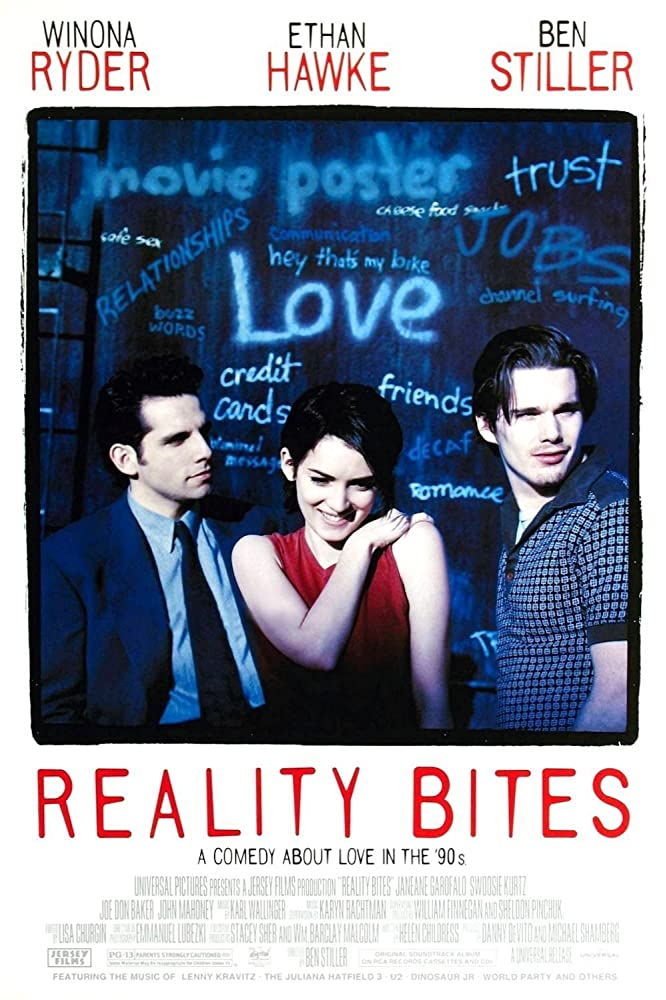 Ethan Hawke, Winona Ryder, and Ben Stiller in Reality Bites (1994)
