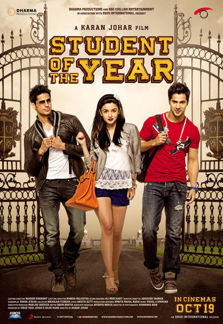 Student of the Year 2012 Hindi Movie 400MB BRRip 480p Free Download