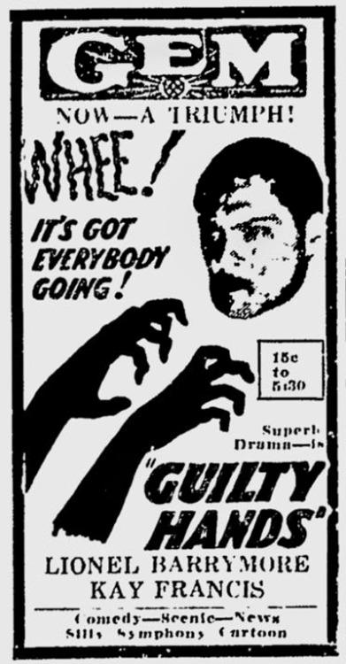Lionel Barrymore in Guilty Hands (1931)