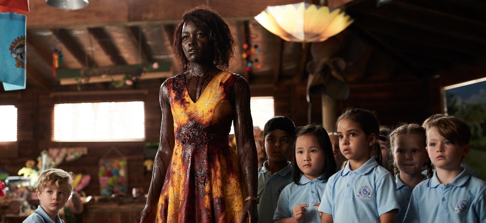 Lupita Nyong'o, Caliah Pinones, Vivienne Albany, Kim Doan, and Diesel La Torraca in Little Monsters (2019)