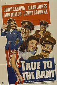 Judy Canova, Jerry Colonna, William Demarest, Allan Jones, and Ann Miller in True to the Army (1942)