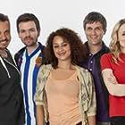 William Ash, Lee Boardman, Stephen Walters, Craig Parkinson, Christine Bottomley, Rebekah Staton, and Naomi Bentley in Great Night Out (2013)