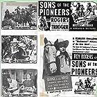 Roy Rogers, Pat Brady, Hugh Farr, Karl Farr, Bob Nolan, Lloyd Perryman, Sons of the Pioneers, Tim Spencer, and Minerva Urecal in Sons of the Pioneers (1942)