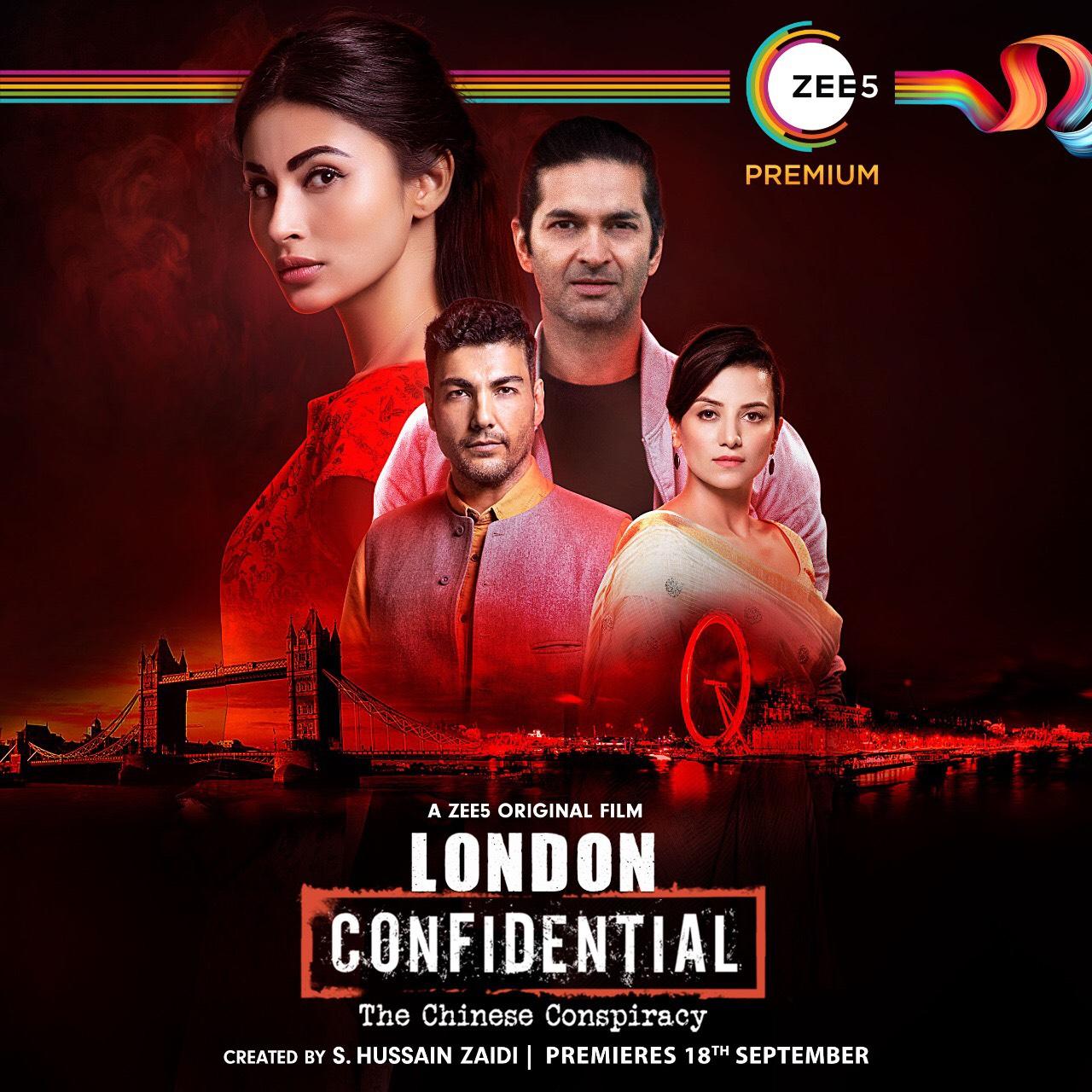 Purab Kohli, Kulraj Randhawa, and Mouni Roy in London Confidental (2020)