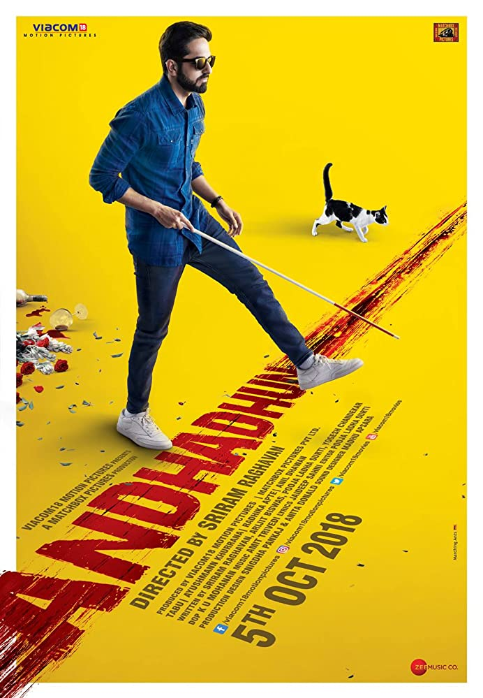 Andhadhun (2018) Hindi 1080p | 720p | Blu-Ray | 2.2GB, 1.1GB | Download | Watch Online | Direct Links | GDrive