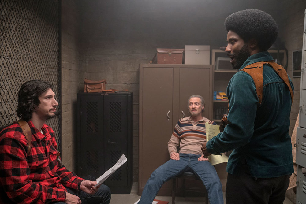 Michael Buscemi, John David Washington, and Adam Driver in BlacKkKlansman (2018)