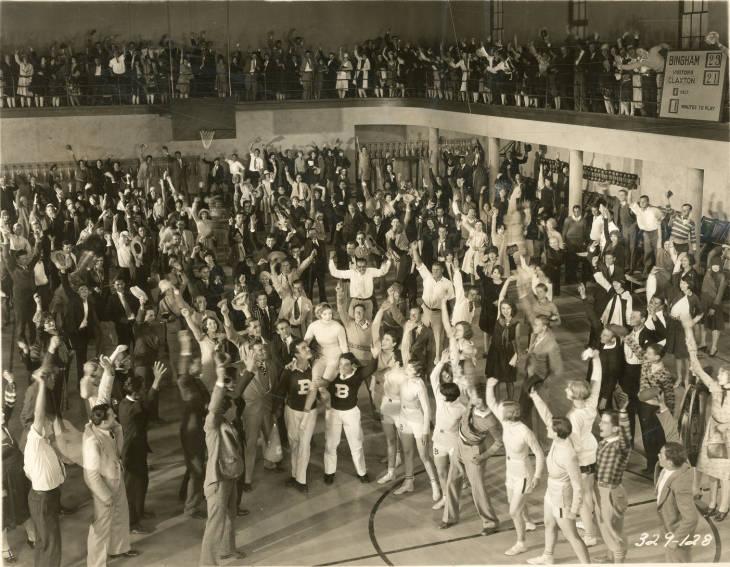 Johnny Mack Brown, Marion Davies, Dean Harrell, Thelma Hill, Lillian Leighton, Joel McCrea, Gene Stone, and Jane Winton in The Fair Co-Ed (1927)
