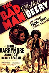 Wallace Beery, Ronald Reagan, and Laraine Day in The Bad Man (1941)