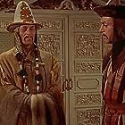 Pedro Armendáriz, William Conrad, Thomas Gomez, and John Hoyt in The Conqueror (1956)