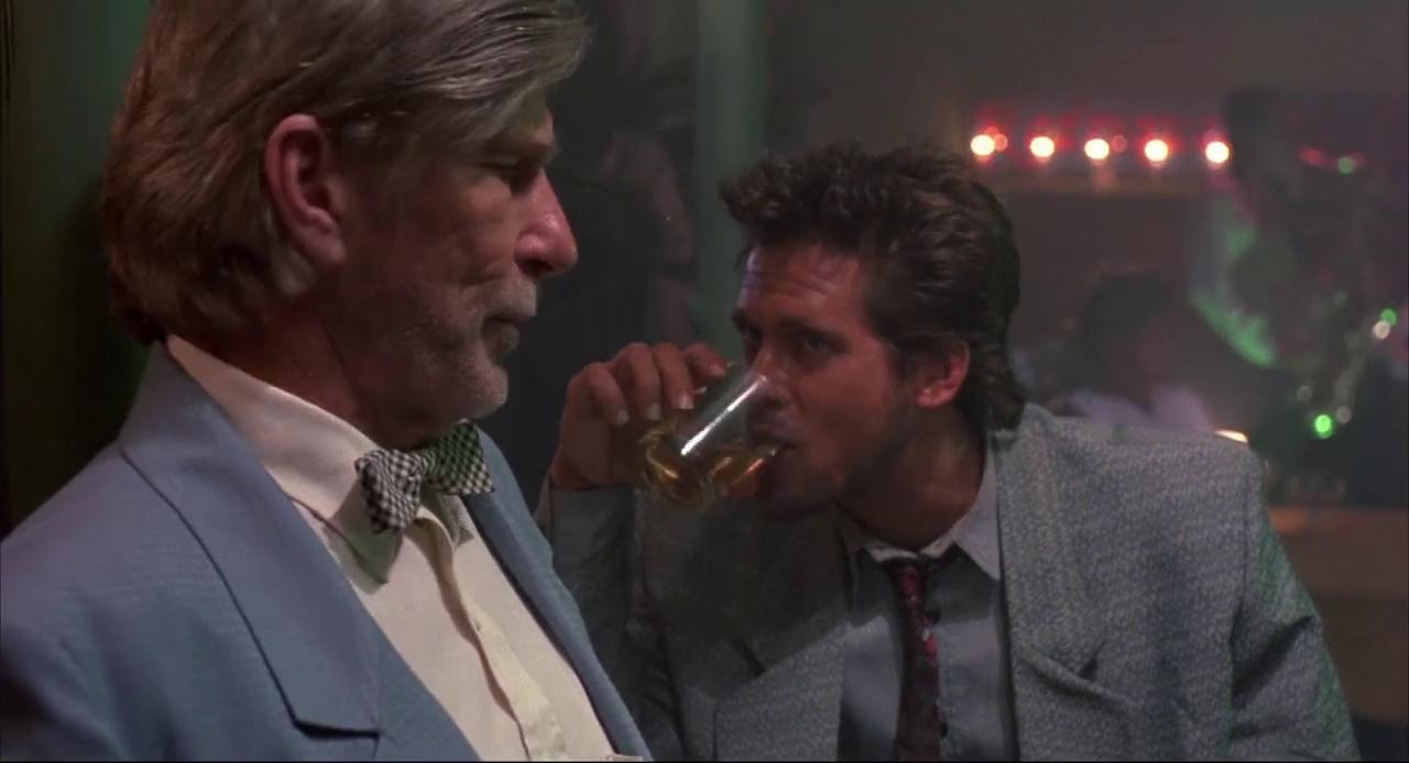 Michael Dudikoff and L.Q. Jones in River of Death (1989)