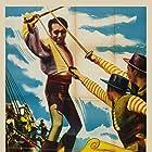 Paul Henreid and Karin Booth in Last of the Buccaneers (1950)