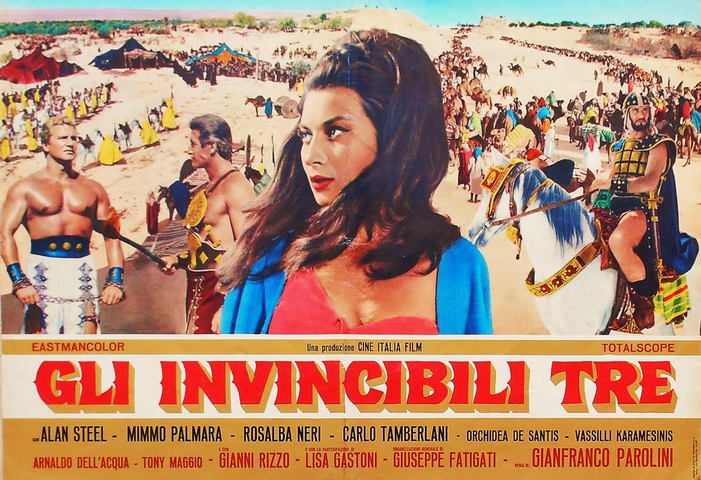 Rosalba Neri, Mimmo Palmara, and Sergio Ciani in Gli invincibili tre (1964)
