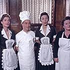 Nikos Rizos, Elsa Rizou, Popi Alva, and Nana Viopoulou in Protevousianikes peripeteies (1956)