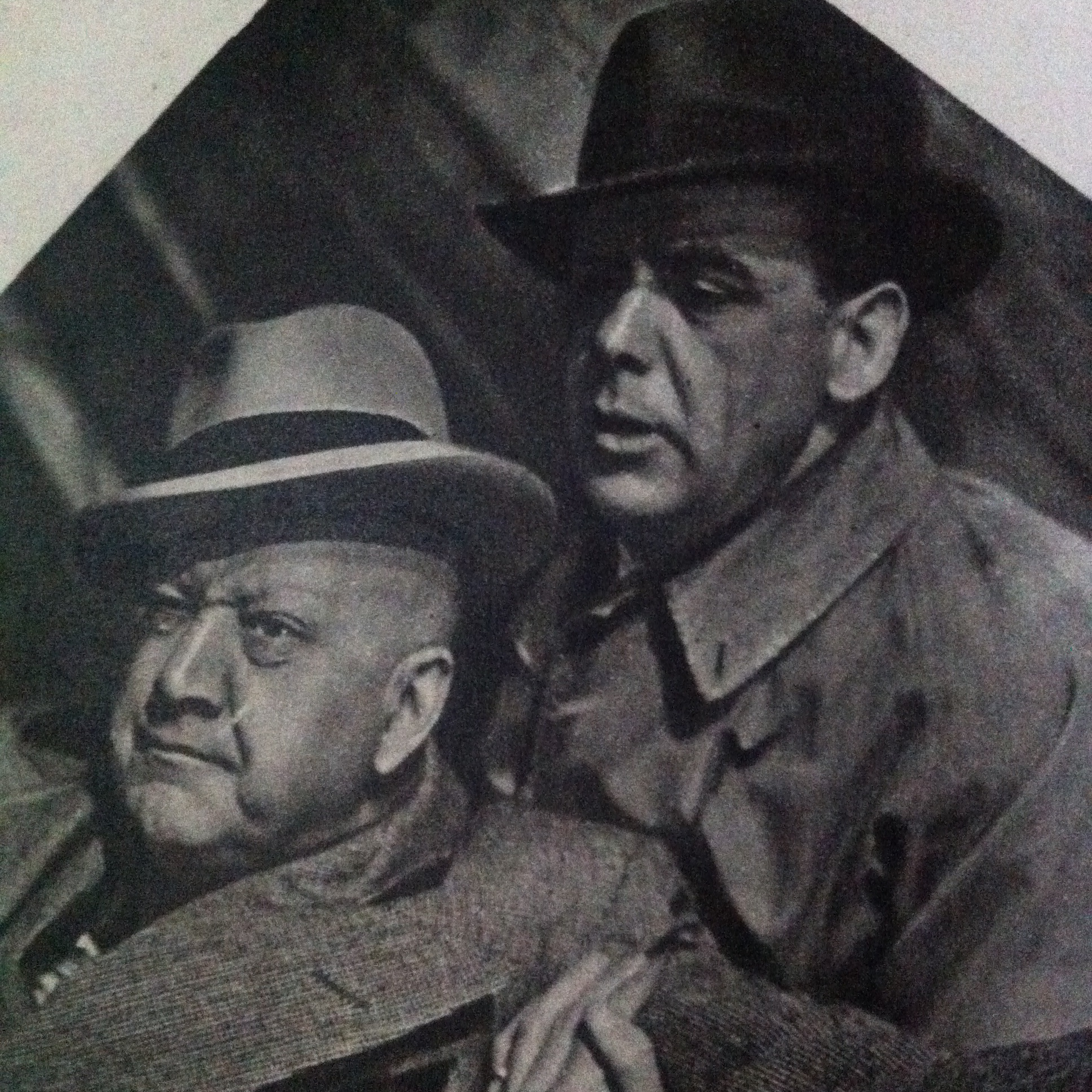 Alfred Drayton and Mervyn Johns in They Knew Mr. Knight (1946)