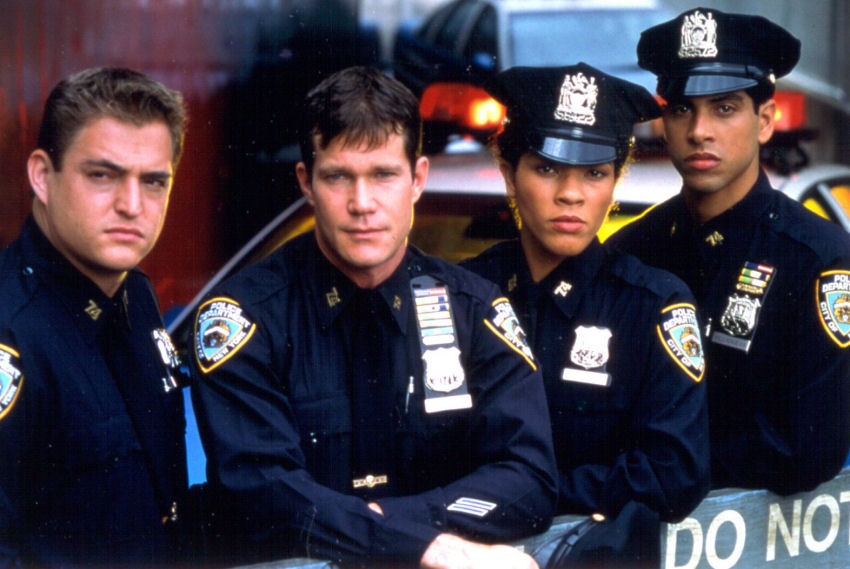 Michael DeLuise, Adam Rodriguez, Klea Scott, and Dylan Walsh in Brooklyn South (1997)