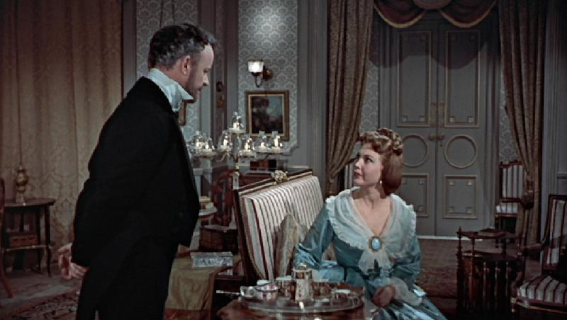 Hazel Court and Robert Urquhart in The Curse of Frankenstein (1957)