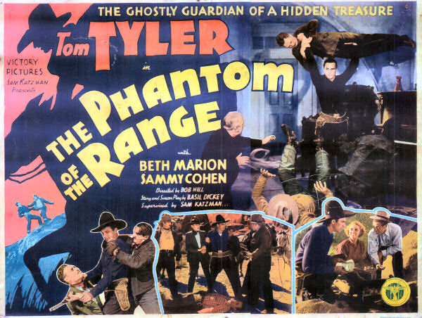 Sammy Cohen, Charles King, Beth Marion, Forrest Taylor, and Tom Tyler in The Phantom of the Range (1936)
