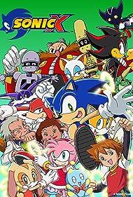 Jun'ichi Kanemaru, Sanae Kobayashi, and Gabriella Lewis in Sonic X (2003)